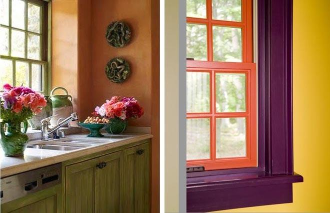 Окна цветные в интерьере фото
