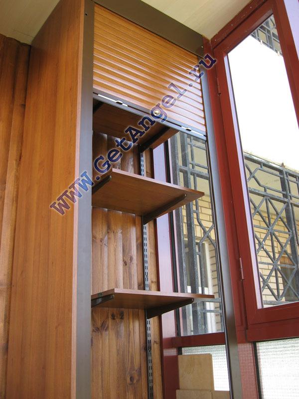 Треугольные шкафы для балконов домов п 44т..